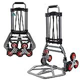 MIZE Aluminiumlegierung Trolley Einkaufen Tragbar Leichtgängige Räder mit Soft-Laufflächen und...
