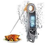 MOSRACY Fleischthermometer Grillthermometer Digital Küchenthermometer, IPX6 Wasserdicht Sofortiges...