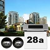 Solarbetriebene Hausnummer Türleuchten, LTXDJ moderne Türnummer Plaketten mit LED-Licht Enthält 3...