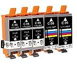 SupplyGuy 5 Druckerpatronen kompatibel mit Canon PGI-35 CLI-36 für Pixma IP100 IP110 IP110 +...