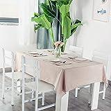 N/A Jinyuan Einfarbige Tischdecke wasserdicht, l- und verbrhungsfrei Baumwolle und Leinen Dinner...