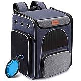 Hunderucksack, Faltbarer Katzenrucksack für Katzen und Hunde, Atmungsaktiver Haustier Rucksack mit...
