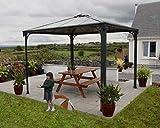 Palram Palermo 3000 Gartenpavillon Höchst Widerstandsfähig Hardtop Pavillon 295 x295cm. Robuste...