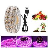 mlnyitus 78 Zoll Wasserdichtes Licht Nachtlicht Power USB Pflanzenlicht mit 5V...