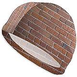 Jupsero Badekappe für Frauen Männer Carcassonne Wall Bricks Textur Langes Haar Polyester Spandex...
