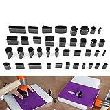 Yosoo Kit 39 Stck Schneidewerkzeug fr Leder, Handarbeit, Lochformen, hohl, Punch aus Metall,...