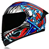 NFJ Motocross Helmet/Motorrad Crosshelm, Motocross Enduro MTB Helm Für Kinder Und...