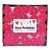pajoma Teelichte 'Love Me' im 50er Pack, Brenndauer 3 Stunden, in Herzform