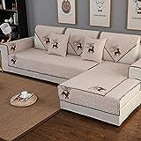 Ginsenget 1/2/3/4 Sitzer Sofabezug Sofaüberwurf weich farbecht Muster,Geflochtenes...