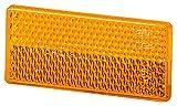 HELLA 8RA 004 412-001 Rückstrahler - Lichtscheibenfarbe: gelb - geklebt
