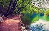Bilderdepot24 Fototapete selbstklebend Flussufer - Vintage 230x150 cm - Designtapete Wandbild...