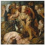 JUNIWORDS Poster, Peter Paul Rubens, Der trunkene Silen, 30 x 30 cm