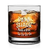NeeNoNex Whiskeyglas Papa Shark Needs A Drink Do Do Do Do 11 oz. Whiskeyglas