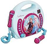 Lexibook Disney's Die Eiskönigin, Anna und Elsa CD-Player mit 2 Spielzeug-Mikrophonen,...