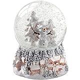 WeRChristmas Schneekugel Schneemann und Weihnachtsbaum, Weihnachtsdekoration, 14cm,Mehrfarbig