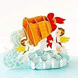 Pop-Up-Weihnachtskarten – 'Merry Christmas Bell' Weihnachtsgrußkarten
