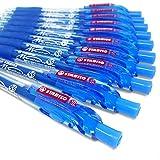 STABILO Marathon Kugelschreiber, einziehbar, extra großem tintenvorrat–Blau–10Stück