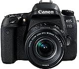 Canon EOS 77D DSLR Digitalkamera - mit Objektiv EF-S 18-55mm F4-5.6 IS STM Objektiv (24,2 Megapixel,...