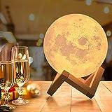 15cm Mondlampe mit Fernbedienung,OxyLED Farbige Dekoleuchte 3D Mond Kunst LED RGB Mondlicht...