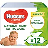 Huggies Natural Care extra Care, sanfte Baby-Feuchttücher mit Aloe Vera, 3er Pack (3x56 Tücher)...