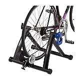 Relaxdays Rollentrainer Fahrrad, klappbarer Radtrainer für 26-28 Zoll Reifen, indoor, Magnetbremse,...