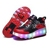 AYUSHOP Jungen und Mädchen LED Leuchtende Sneakers, Outdoor Sport Cross Trainer Gymnastik Sneaker...