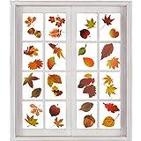 AIEX 200 Stück Herbst Blätter Fensteraufkleber Thanksgiving Fenster haftet Herbst Blätter...