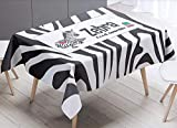 GLLCYL Tischdecke Tischtuch Tischläufer Tischwäsche Lächelndes Zebramuster Uni einfarbig...
