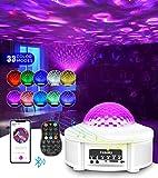 Tesoky Sternenhimmel Projektor,Rotierende Wasserwellen Projektionslampe LED Starry Projector Light...