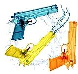 3x Wasserpistolen Set 20 cm Wasserspritzpistole Spritzpistole klein mini Wasser für Kinder als...
