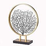 WACYDSD Lebensbaum Deko Skulptur Metall Figur Baum des Lebens Schmuckbaum Auf Metallsilber-Farbig...