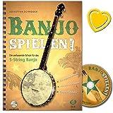 Banjo spielen - Die umfassende Schule für das 5-String Banjo mit CD (und bunter herzförmiger...