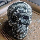 GenericBrands Keramik Sparschwein Schädel geformte Sparbüchse Handgemachte Sticky Drill...