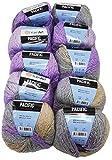 Pacific 10 x 50 g YarnArt Strickwolle Mehrfarbig mit Farbverlauf, 500 Gramm Strickgarn mit 20%...