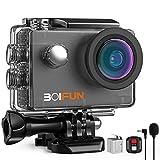BOIFUN 4K 20MP Action Cam EIS Bildstabilisierte Wi-Fi mit Externem Mikrofon Unterwasserkamera Sport...