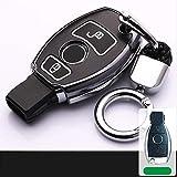 XTQDM Autoschlüsselschale,Für Kunststoff Leuchtend Für Mercedes Benz Auto Auto Schlüsseletui...