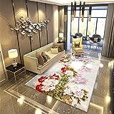 KFEKDT Romantische 3D Blume Teppich Nachttischmatte Dekoration Flanell Weichen Bereich Teppich Sofa...