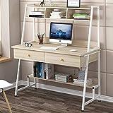 FMIKA mit Bücherregal Schreibtisch Moderne Multifunktional robust und langlebig Schnellaufbau für...