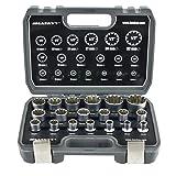 Gear Lock Steckschlüssel/Stecknüsse 1/2' 8-32 Vielzahn Torx Zoll Werkzeug Außen Innen Nüsse/...