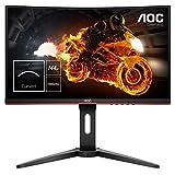 AOC Gaming C24G1 59,9 cm (23,6 Zoll) Curved Monitor (FHD, HDMI, 1ms Reaktionszeit, DisplayPort, 144...