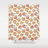 YYZZ Duschvorhang, Orange Duschvorhang Wasserdichtes Polyestergewebe Badezimmerdekor Tropische...