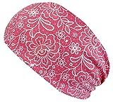 WOLLHUHN ÖKO Damen/Mädchen Süßes elastisches LACE Haarband/Stirnband Pink (aus Öko-Stoffen,...
