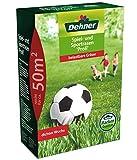 Dehner Rasen-Saatgut, Spiel- und Sportrasen Profi, 1.25 kg, für ca. 50 qm