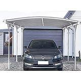 Home Deluxe - Design Carport weiß - Falo - Maße: 505 x 300 x 226/240 cm - komplett inkl....