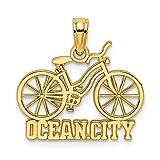Anhänger 14 Karat Gelbgold OCEAN CITY unter Fahrrad