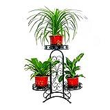 WEILAI Blumenkasten aus Schmiedeeisen, mehrschichtig, für Innen- und Außenbereich,...