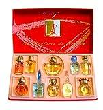 Top Ten Gift Set of 10 Eau de Parfums Miniatures Total 53,7 ml