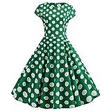 ZZBO 1950er Vintage Retro Partykleid Ballkleid Abendkleider Rundhals Kurzarm Cocktailkleid...
