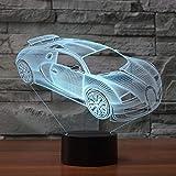 KangYD 3D Nachtlicht Spuer Fast Car Lampe, LED Optische Täuschungslampe, D - Remote Crack White (16...