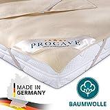 PROCAVE Matratzen-Auflage aus 100% Baumwolle, Natur-Matratzenschoner atmungsaktiv, hochwertige...